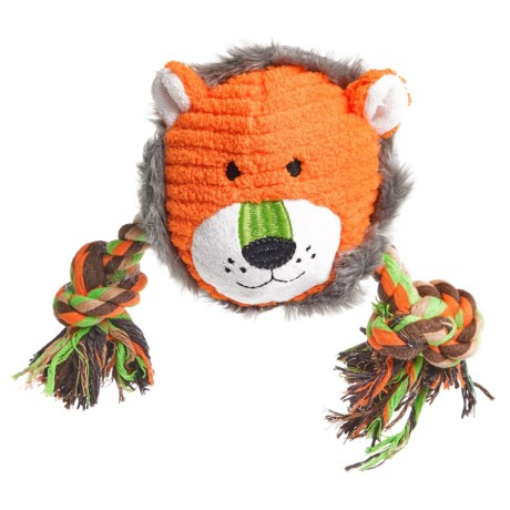 Animal Planet Plush Lion Rope Dog Toy in See Photo