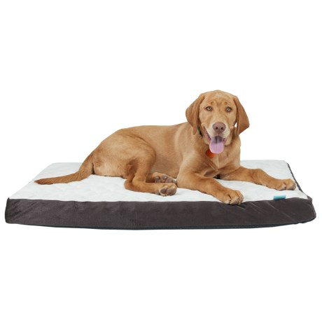 "Animal Planet Quilted Orthopedic Crate Mat - 22x35"" in Brown/Cream"