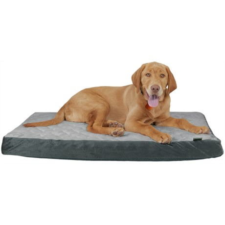 "Animal Planet Quilted Orthopedic Crate Mat - 22x35"" in Charcoal/Grey"