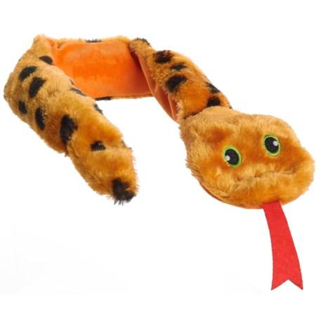 Animal Planet Snake Squeaker Dog Toy in Orange