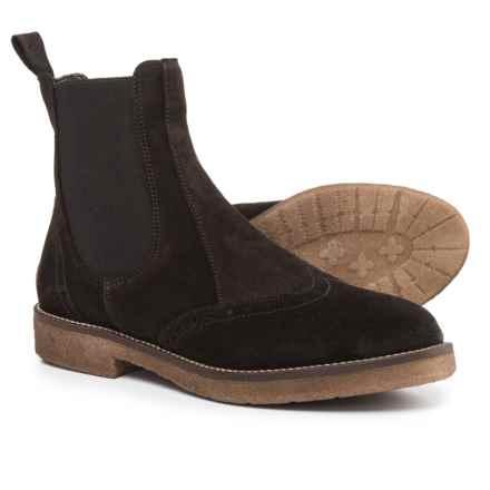 Anna Fidanza Chelsea Boots - Suede (For Women) in Dark Brown - Closeouts