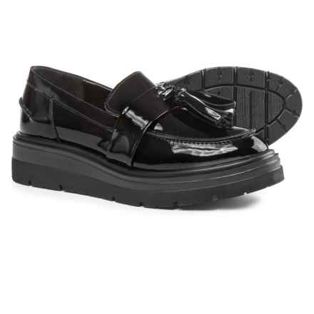 Anna Fidanza Double Tassel Moccasins - Patent Leather (For Women) in Black - Closeouts