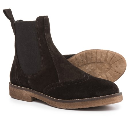 Anna Fidanza Made in Italy Chelsea Boots - Suede (For Women) in Dark Brown