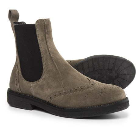 Anna Fidanza Made in Italy Chelsea Boots - Suede (For Women) in Grey