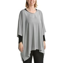 Annalee and Hope by Tiana B Jersey Oversized Tunic Shirt - Elbow Sleeves (For Women) in Grey - Closeouts