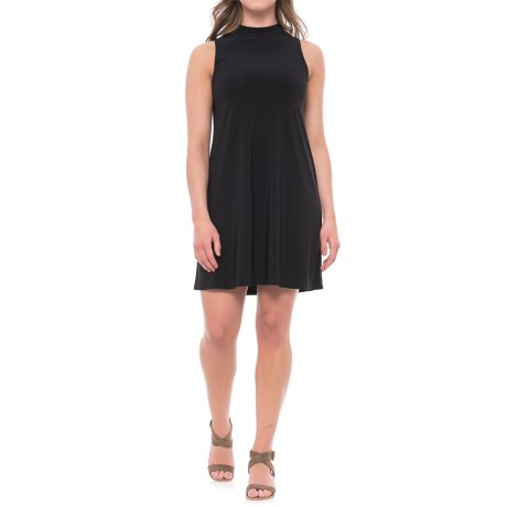 Annalee+Hope Jersey Knit Trapeze Dress - Sleeveless (For Women) in Black