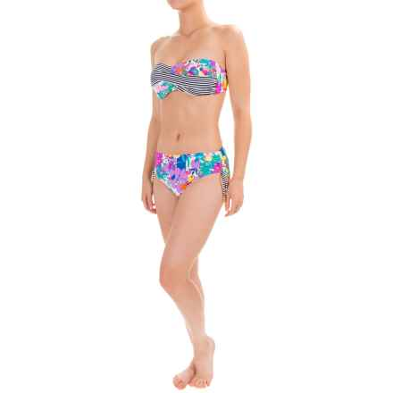 Anne Cole Floral Twist Bandeau Bikini Set - Tie Bottoms (For Women) in Multi - Closeouts