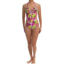 Anne Cole Halter Swimsuit (For Women) in Multi Floral - Closeouts