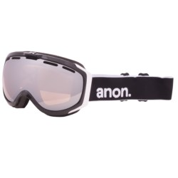 Anon 2012 Hawkeye Snowsport Goggles in Black/Silver Amber