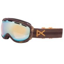 Anon 2013 Hawkeye Snowsport Goggles in Sherpa/Gold Chrome - Closeouts