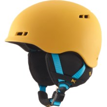 Anon Burner Snowsport Helmet (For Big Kids) in Wild Thing Yellow - Closeouts