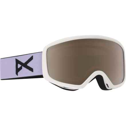 Anon Deringer MFI Ski Goggles - OTG (For Women) in White/Silver Amber - Closeouts