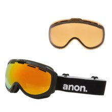 Anon Hawkeye Ski Goggles - Extra Lens in Black/Red Solex - Closeouts