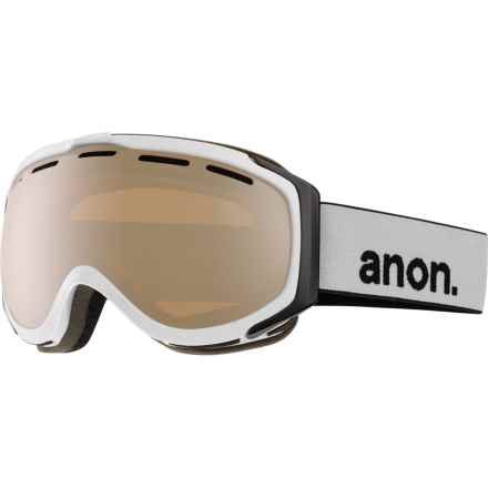 Anon Hawkeye Ski Goggles - Extra Lens in White/Silver Amber - Closeouts