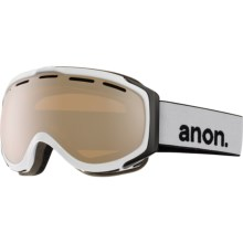 Anon Hawkeye Ski Goggles - Interchangeable Lens in White/Silver Amber - Closeouts