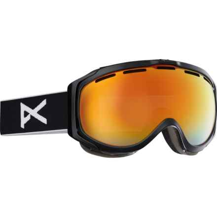 Anon Hawkeye Snowsport Goggles in Black/Red Solex - Overstock