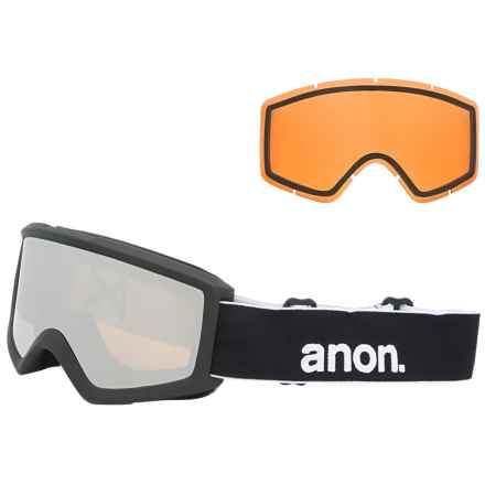 Anon Helix 2.0 Ski Goggles - Extra Lens in Black/Silver Amber - Overstock
