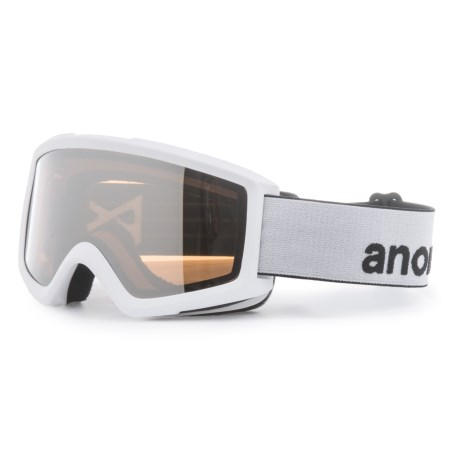 Anon Helix 2.0 Ski Goggles - Extra Lens in White/Silver Amber