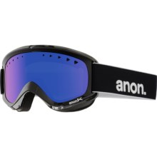 Anon Helix Ski Goggles - Extra Lens in Black/Blue Solex - Closeouts