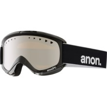 Anon Helix Ski Goggles - Extra Lens in Black/Silver Amber - Closeouts