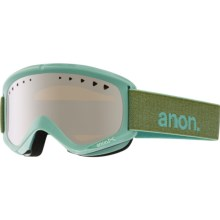 Anon Helix Ski Goggles - Extra Lens in Mint/Silver Amber - Closeouts