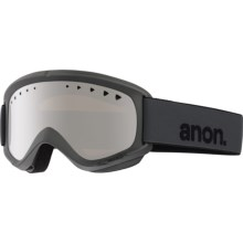 Anon Helix Ski Goggles - Extra Lens in Stealth/Silver Amber - Closeouts