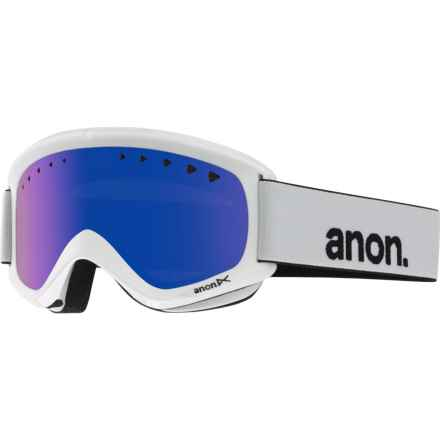 Anon Helix Ski Goggles - Extra Lens in White/Blue Solex - Closeouts