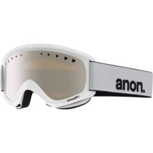 Anon Helix Ski Goggles - Extra Lens in White/Silver Amber - Closeouts
