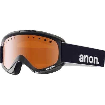 Anon Helix Ski Goggles in Black/Amber - Closeouts