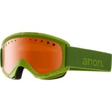 Anon Helix Ski Goggles in Grasshole/Amber - Closeouts