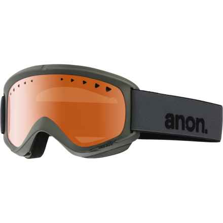 Anon Helix Ski Goggles in Stealth/Amber - Overstock