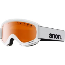 Anon Helix Ski Goggles in White/Amber - Closeouts