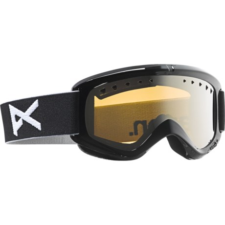Anon Helix Snowsport Goggles in Black/Silver Amber