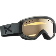 Anon Helix Snowsport Goggles in Stealth/Silver Amber - Closeouts
