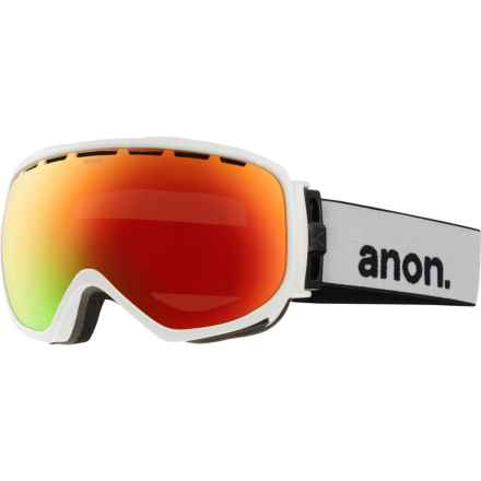 Anon Insurgent Ski Goggles in White/Red Solex - Closeouts