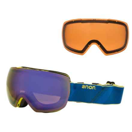 Anon Mig Ski Goggles - Asia Fit , Extra Lens in Neptune/Blue Solex - Overstock
