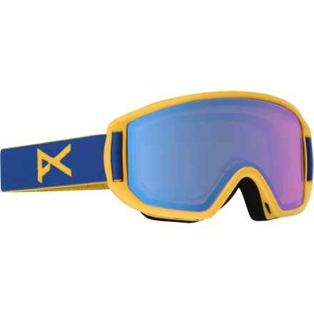 Anon Relapse Jr. MFI Ski Goggles (For Big Kids) in Macaw/Blue Amber - Overstock