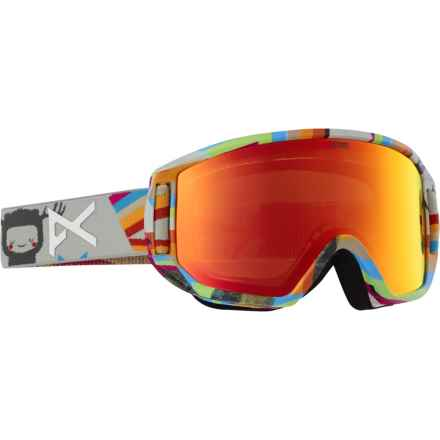 Anon Relapse Jr. MFI Ski Goggles (For Big Kids) in Technocolor/Red Amber - Overstock