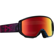 Anon Relapse Jr. MFI Snowsport Goggles (For Big Kids) in Bonehead/Red Amber - Closeouts