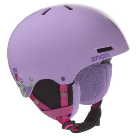 Anon Rime Snowsport Helmet (For Youth) in Wildlife Purple - Overstock