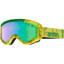 Anon Tracker Ski Goggles (For Big Kids) in Bark/Green Amber - Closeouts