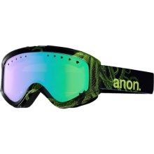 Anon Tracker Ski Goggles (For Big Kids) in Krakken/Green Amber - Closeouts