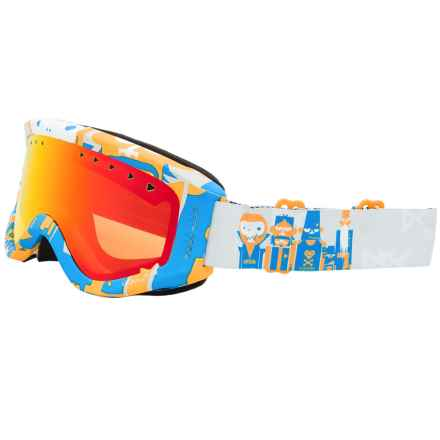 Anon Tracker Ski Goggles (For Big Kids) in Motley/Red Amber - Closeouts