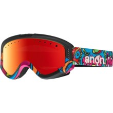 Anon Tracker Ski Goggles (For Big Kids) in Wild Thing/Red Amber - Closeouts