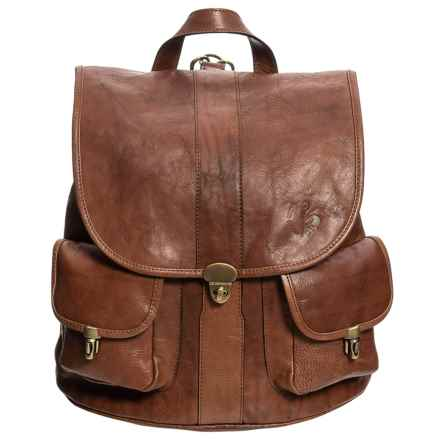 Anonimo Fiorentino Leather Backpack in Moro - Closeouts