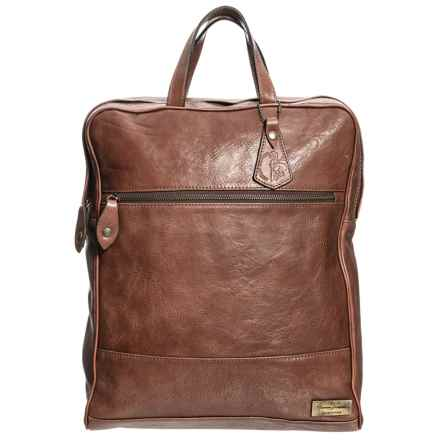 Anonimo Fiorentino Tall Leather Backpack in Vintage - Closeouts