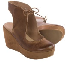 Antelope 806 Cutaway Sandals - Leather, Wedge Heel (For Women) in Taupe - Closeouts