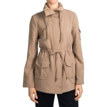 Anthracite by Muse Dress Anorak Jacket (For Women) in Taupe - Closeouts