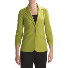 Anthracite Ponte Knit Blazer (For Women) in Peagreen - Closeouts
