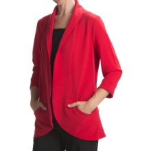 Anthracite Shawl Collar Cocoon Jacket (For Women) in Red - Closeouts